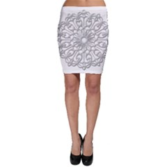 Scrapbook Side Lace Tag Element Bodycon Skirt