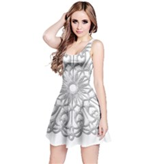 Scrapbook Side Lace Tag Element Reversible Sleeveless Dress