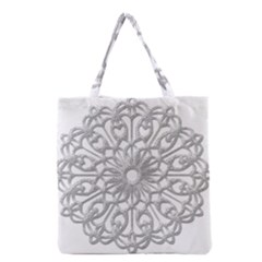 Scrapbook Side Lace Tag Element Grocery Tote Bag