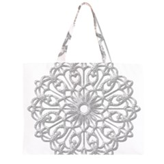 Scrapbook Side Lace Tag Element Large Tote Bag
