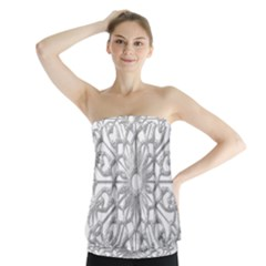 Scrapbook Side Lace Tag Element Strapless Top