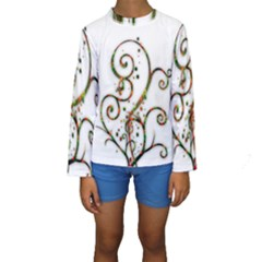 Scroll Magic Fantasy Design Kids  Long Sleeve Swimwear