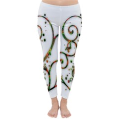 Scroll Magic Fantasy Design Classic Winter Leggings