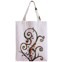 Scroll Magic Fantasy Design Zipper Classic Tote Bag
