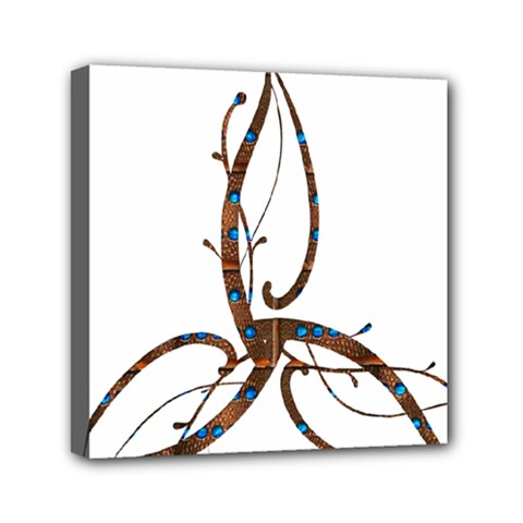 Abstract Shape Stylized Designed Mini Canvas 6  x 6