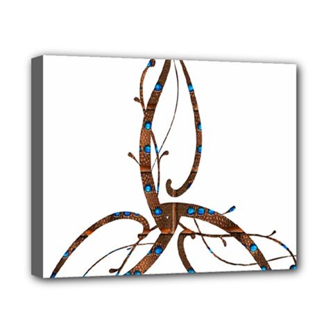Abstract Shape Stylized Designed Canvas 10  X 8