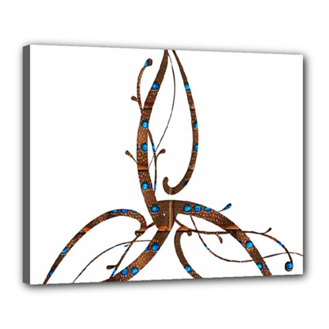 Abstract Shape Stylized Designed Canvas 20  x 16