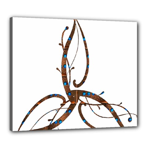 Abstract Shape Stylized Designed Canvas 24  x 20