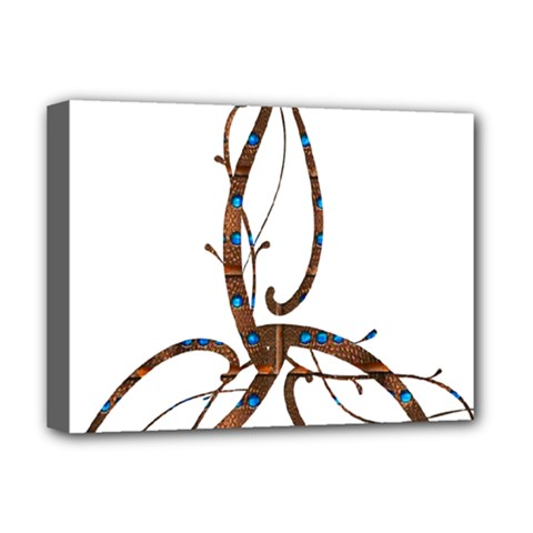 Abstract Shape Stylized Designed Deluxe Canvas 16  X 12
