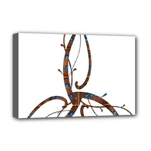 Abstract Shape Stylized Designed Deluxe Canvas 18  x 12