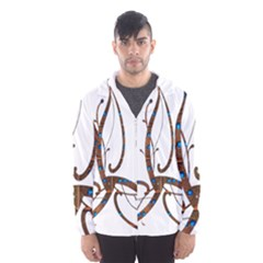 Abstract Shape Stylized Designed Hooded Wind Breaker (Men)
