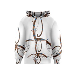 Abstract Shape Stylized Designed Kids  Pullover Hoodie