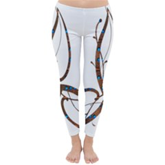 Abstract Shape Stylized Designed Classic Winter Leggings