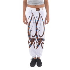 Abstract Shape Stylized Designed Women s Jogger Sweatpants