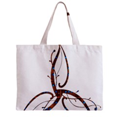 Abstract Shape Stylized Designed Zipper Mini Tote Bag