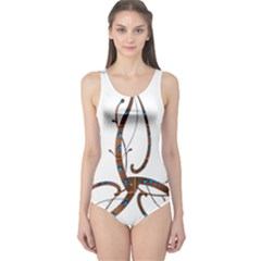 Abstract Shape Stylized Designed One Piece Swimsuit