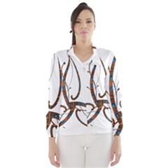 Abstract Shape Stylized Designed Wind Breaker (Women)