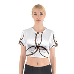 Abstract Shape Stylized Designed Cotton Crop Top