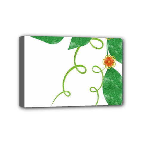 Scrapbook Green Nature Grunge Mini Canvas 6  x 4