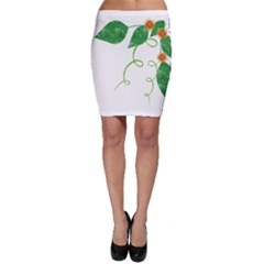 Scrapbook Green Nature Grunge Bodycon Skirt