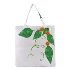 Scrapbook Green Nature Grunge Grocery Tote Bag
