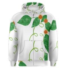 Scrapbook Green Nature Grunge Men s Zipper Hoodie
