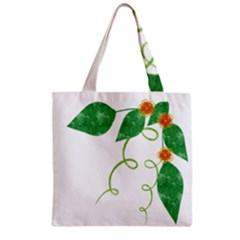 Scrapbook Green Nature Grunge Zipper Grocery Tote Bag