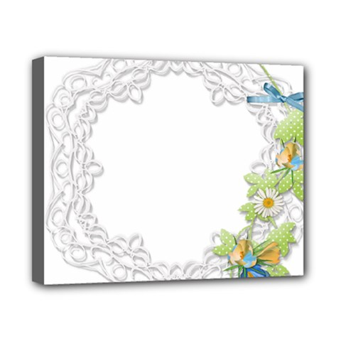 Scrapbook Element Lace Embroidery Canvas 10  X 8