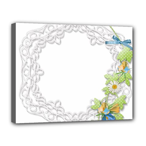 Scrapbook Element Lace Embroidery Canvas 14  x 11