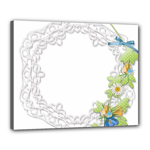 Scrapbook Element Lace Embroidery Canvas 20  X 16