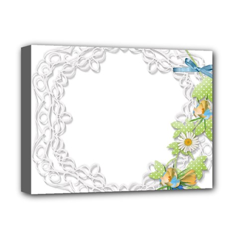 Scrapbook Element Lace Embroidery Deluxe Canvas 16  x 12