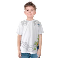 Scrapbook Element Lace Embroidery Kids  Cotton Tee
