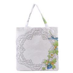 Scrapbook Element Lace Embroidery Grocery Tote Bag