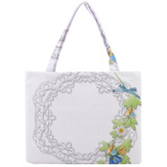 Scrapbook Element Lace Embroidery Mini Tote Bag