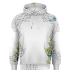 Scrapbook Element Lace Embroidery Men s Pullover Hoodie