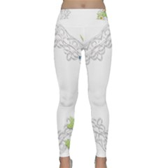 Scrapbook Element Lace Embroidery Classic Yoga Leggings