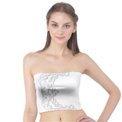 Scrapbook Element Lace Embroidery Tube Top