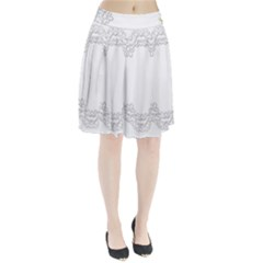 Scrapbook Element Lace Embroidery Pleated Skirt