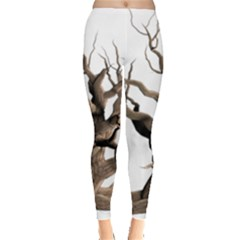 Tree Isolated Dead Plant Weathered Leggings