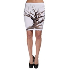 Tree Isolated Dead Plant Weathered Bodycon Skirt