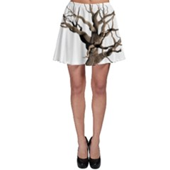 Tree Isolated Dead Plant Weathered Skater Skirt