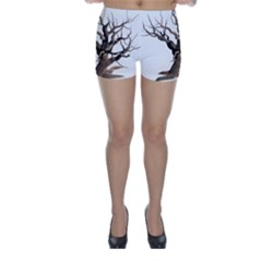 Tree Isolated Dead Plant Weathered Skinny Shorts