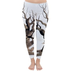 Tree Isolated Dead Plant Weathered Classic Winter Leggings