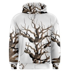 Tree Isolated Dead Plant Weathered Men s Zipper Hoodie