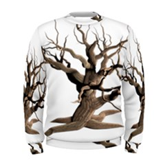 Tree Isolated Dead Plant Weathered Men s Sweatshirt