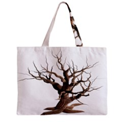 Tree Isolated Dead Plant Weathered Zipper Mini Tote Bag