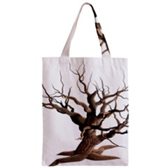 Tree Isolated Dead Plant Weathered Zipper Classic Tote Bag