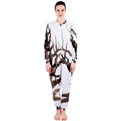Tree Isolated Dead Plant Weathered Onepiece Jumpsuit (ladies)