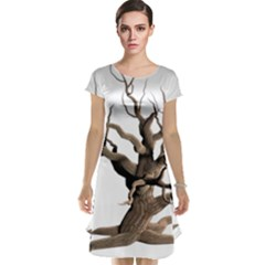 Tree Isolated Dead Plant Weathered Cap Sleeve Nightdress