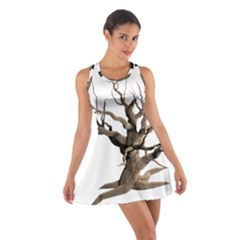 Tree Isolated Dead Plant Weathered Cotton Racerback Dress